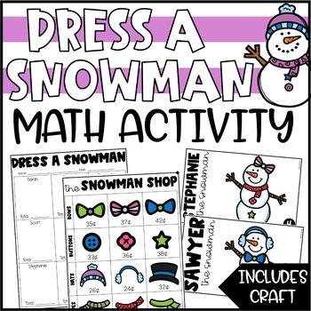 Dress a Snowman - An Addition & Money Activity