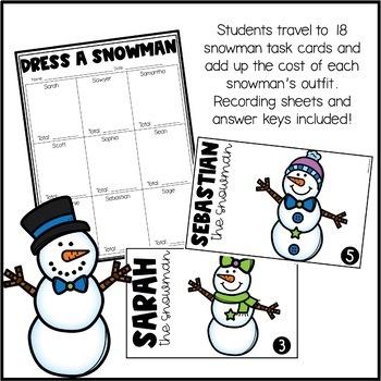 Dress a Snowman - A Mini-Math Project