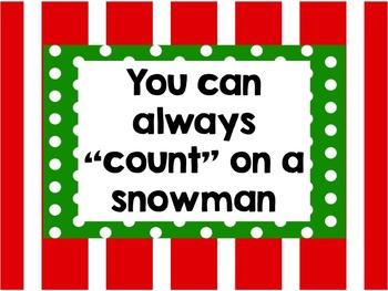 Dress a Snowman Using Number Sense 0 - 20