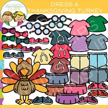 Dress a Thanksgiving Turkey Clip Art