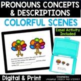 No Print Thanksgiving  Pronouns Vocabulary Descriptions & Basic Concepts