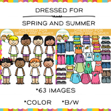 Dress for Spring or Summer Clip Art