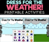 Dress for the Weather & 4 Seasons! Printable Activities for Pre-K & Kinder