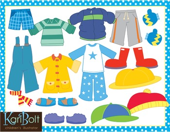 Dress for the Weather Kids and Clothes, Clip Art and ...
