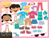 Dress for the Weather Kids and Clothes, Clip Art and Printables
