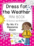 Dress for the Weather Mini Book and Worksheet