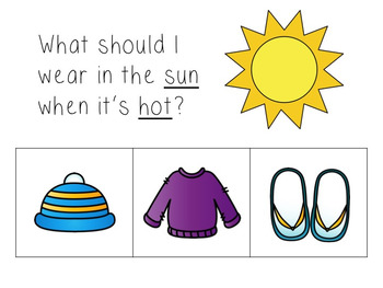 Dress for the Weather Presentation and Worksheet