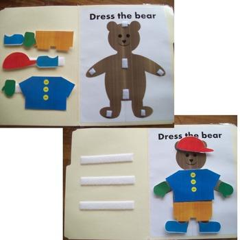 Dress the Bear File Folder Game