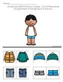 Dress the Boy for Winter Worksheet