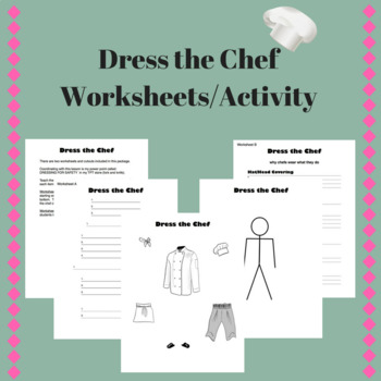 Dressing for Safety - Dress the Chef Worksheets