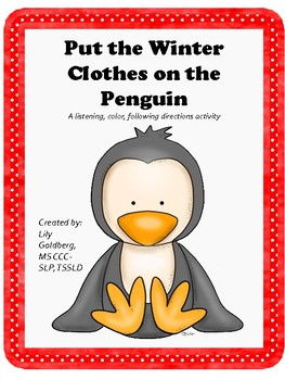 Dress the Penguin Colors/ Following Directions/ Matching Game