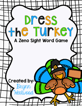Dress the Turkey-A Sight Word Game