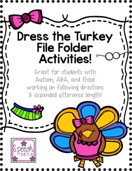 Dress the Turkey File Folder Activities