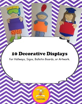 Dress up Kids Decorative Displays for Writing, Art, or Bulletin Boards