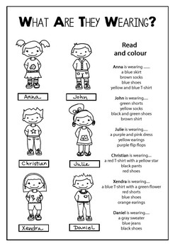 Clothes Vocabulary Craft Dress Up Doll And Worksheets By Cristina Pillado