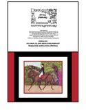 Dressage Horse English Style Riding Art Card Printable 5x7