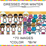Dressed For Winter Clip Art