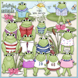 Dressed Up Frogs Clip Art - Frog Clip Art - CU Clip Art & B&W