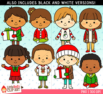 Dressed for Christmas Clip Art