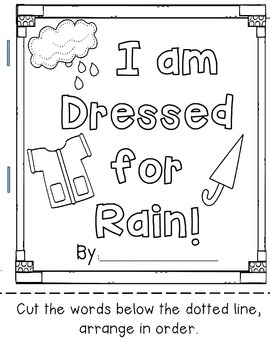 Dressed for Rain, Sentence Cut and Build Book