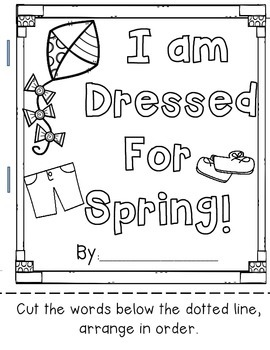 Dressed for Spring, Sentence Cut and Build Book