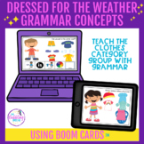 Dressed for the Weather BOOM Cards™ Vocabulary Activity -