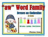 "Dresses on Clothesline - ""aw"" Word Family"