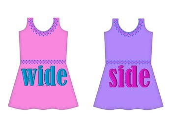 "Dresses on Clothesline - ""ide"" Word Family"