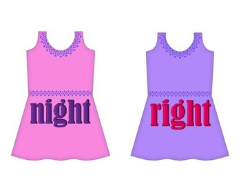 """Dresses on Clothesline - """"ight"""" Word Family"""