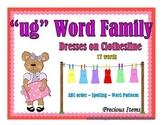 """Dresses on Clothesline - """"ug"""" Word Family"""