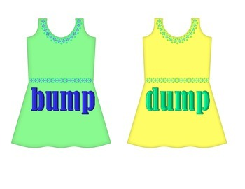 "Dresses on Clothesline - ""ump"" Word Family"