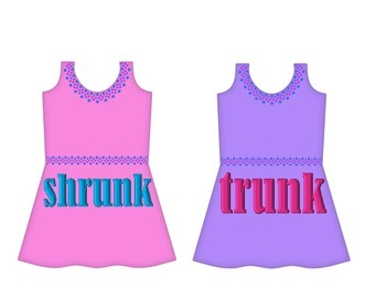 """Dresses on Clothesline - """"unk"""" Word Family"""