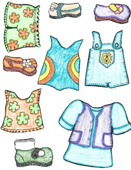 Dressing for Summer and Fall File Folder Game