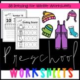 Preschool Dressing for Winter Worksheets