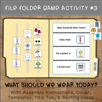 Dressing for the Weather File Folder Games