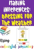 Inferences: Dressing for the weather FLIP BOOK, TASK CARDS & WRITING