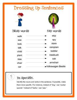 Dressing up sentences: From DRAB to FAB!