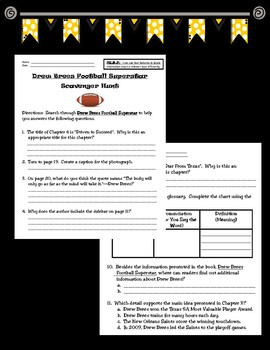 Drew Brees Football Superstar by Mike Artell Scavenger Hunt