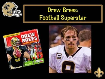 Drew Brees Football Superstar by Mike Artell PowerPoint & Scavenger Hunt