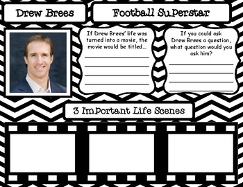 Drew Brees Pair and Share Poster