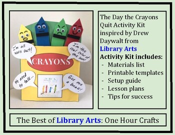 Drew Daywalt: The Day the Crayons Quit Activity Kit from Library Arts