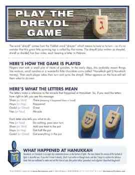 Dreydl (Dreidel) Song and Game Activity