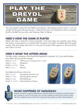 Dreydl (Dreidel) Song and Game Activity