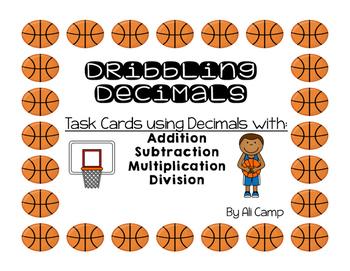 Dribbling Decimal Task Cards