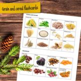 Dried fruit, Grains and Cereals Flashcards (Vocabulary worksheet)