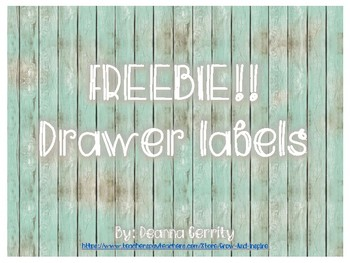 Driftwood drawer labels