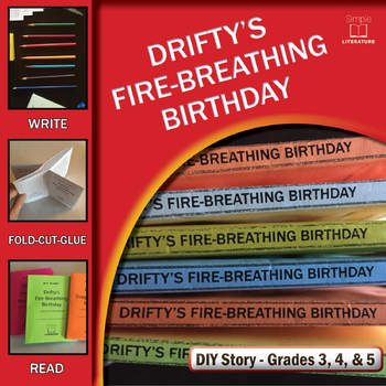 Drifty's Fire-Breathing Birthday — Creative Writing Story Prompts — DIY Story