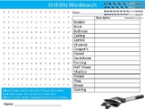 Drill Bits Wordsearch Sheet Engineering Design Starter Activity Keywords