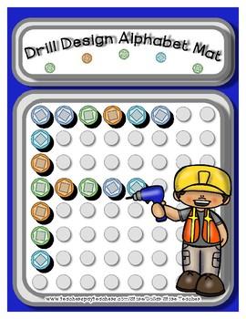 Drill Design  -  Manipulative Mats Upper & Lower Case Letters  Fine Motor Work