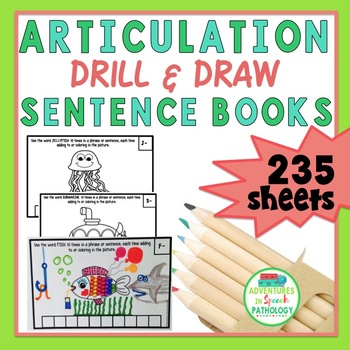Drill & Draw Articulation Sentence Books